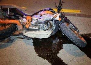 Bakıda motosiklet sürücüsü qəza törədib