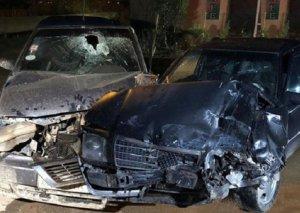 Zərdabda iki avtomobil toqquşdu,