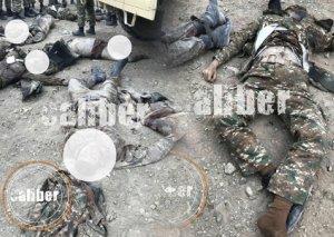 Ordumuzun məhv etdiyi erməni hərbçilərin meyitlərinin görüntüləri - FOTOLAR
