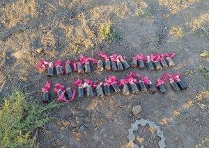 Ermənistanın Mingəçevirə atdığı ballistik hədəfin qalıqları FOTO