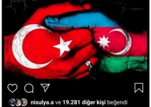 Məşhur türkiyəli aktrisa da Azərbaycana dəstək oldu