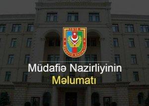 Azərbaycan Müdafiə Nazirliyi: