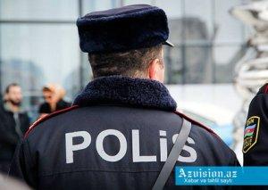 Polislərə müqavimət göstərən şəxs saxlanıldı