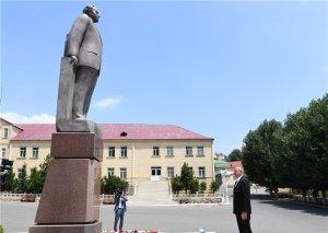 Prezident İlham Əliyev Daşkəsəndə səfərdədir FOTO