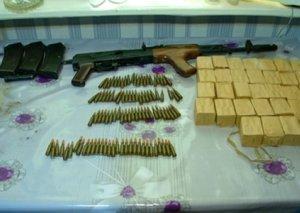 Gəncə sakinində narkotik və silah aşkar edilib (FOTO)