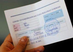 Saxta COVID-19 pasportu satan şəxsə cinayət işi açılıb