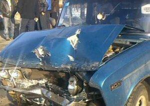 Ağcabədidə üç avtomobil toqquşub, 3 nəfər yaralanıb