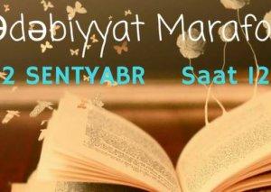 """""""Ədəbiyyat marafonu""""nda gənclər tanınmış yazıçılarla görüşəcəklər"""