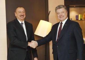 Prezident İlham Əliyev  Məsud Bərzani ilə görüşüb