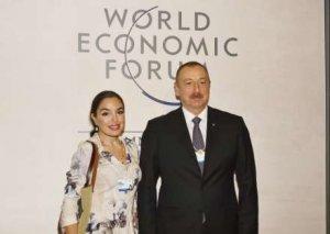 Leyla Əliyeva Dünya İqtisadi Forumunun keçirildiyi Konqres Mərkəzində olub - Foto