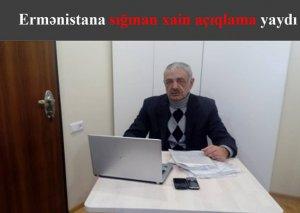 Ermənistana sığınan xain açıqlama yaydı -