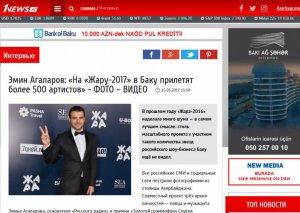 """Emin Ağalarov: """"ЖАРА 2017""""də iştirak etmək üçün Bakıya 500-dən çox musiqiçi gələcək"""