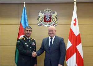 Azərbaycan-Gürcüstan hərbi əməkdaşlığı müzakirə olunub