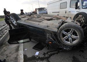 Şamaxıda avtomobil aşdı, sürücü öldü