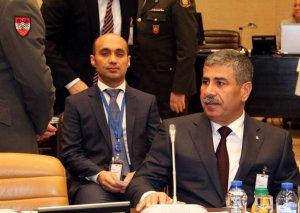 Zakir Həsənov NATO-nun iclasında çıxış edib