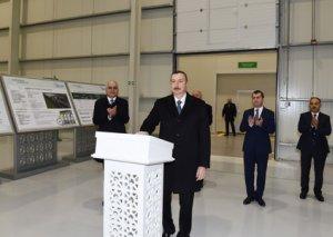 Prezident Sumqayıtda bir neçə müəssisənin açılışını etdi