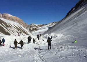 Alpinistlərin axtarışları Xınalıq istiqamətində davam etdirilir