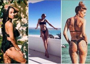 Qışı bikinidə keçirən məşhurlar