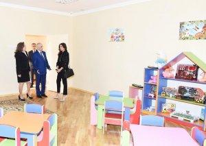 Birinci vitse-prezident Mehriban Əliyeva Mərdəkanda körpələr evi-uşaq bağçasının açılışında iştirak edib-