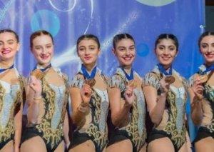 Bədii gimnastika üzrə qrup hərəkətləri komandamız Fransada üçüncü olub
