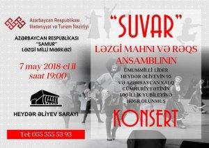 """Bakıda """"Suvar"""" ansamblı konsert proqramı ilə çıxış edəcək"""