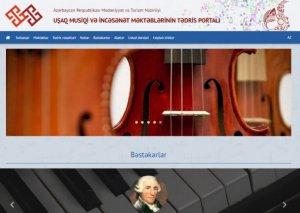 Uşaq musiqi və incəsənət məktəblərinin tədris portalı istifadəyə verilib