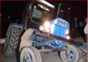 Bərdədə sərnişin qatarı traktorla toqquşub, xəsarət alan var
