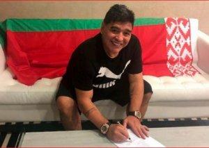 """Maradona Belarusun """"Dinamo"""" klubunun idarə heyətinə sədr seçilib - Foto"""