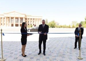 Prezident İlham Əliyev Naxçıvan Müəllimlər İnstitunun yeni binasının açılışında iştirak edib