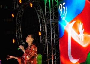 Yaponiyalı müğənni: Xalqınızın ümummilli lider Heydər Əliyevə böyük sevgisinin və hörmətinin şəxsən şahidi oldum