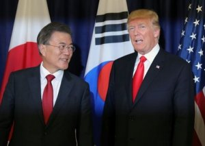 Tramp Cənubi Koreya lideri ilə görüşüb
