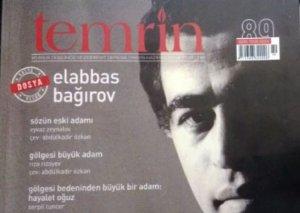 """Türkiyənin """"Temrin"""" ədəbiyyat jurnalı azərbaycanlı yazıçının yaradıcılığına geniş yer ayırıb"""