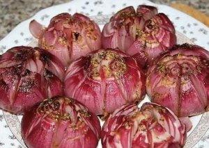 Sobada bişirilmiş soğan -