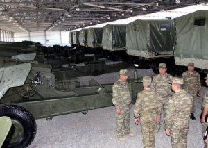 Cəbhə bölgəsində Raket və Artilleriya Qoşunlarının hərbi hissəsinin açılışı olub