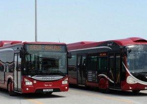 Paytaxtda avtobusların hərəkət sxemi dəyişdiriləcək