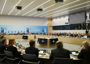 Prezident İlham Əliyev NATO-nun Əfqanıstanda Qətiyyətli Dəstək missiyası üzrə Şimali Atlantika Şurasının görüşündə iştirak edib