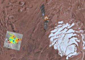 Marsda nəhəng maye su göl tapılıb