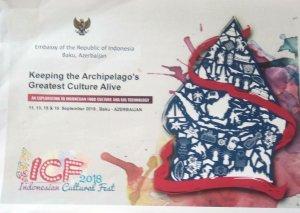 Bakıda üçüncü İndoneziya mədəniyyət festivalı keçiriləcək