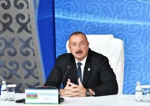 """Prezident İlham Əliyev: """"Azərbaycan Xəzəryanı ölkələr üçün mühüm tranzit rolu oynayır"""""""